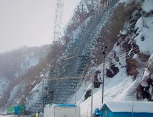 Water purification in a slope stabilisation project