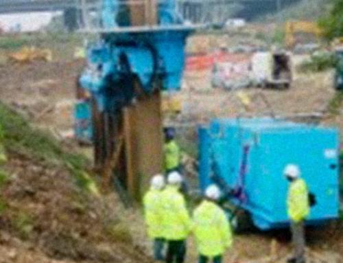 Depuración del agua en obra de pilotaje y cimentación