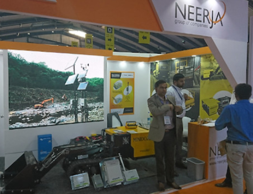 At the EXCON 2019 exhibition in Bangalore